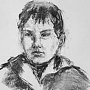 Boy With Hooded Jacket Art Print