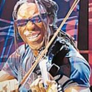 Boyd Tinsley And 2007 Lights Art Print by Joshua Morton