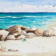 Boynton Beach Inlet Watercolor Art Print