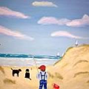 Boys At Sea Art Print