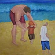 Paul, Brady Gavin At The Beach Art Print