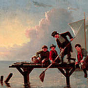 Boys Crabbing Art Print