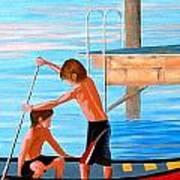 Boys On The Bay Art Print