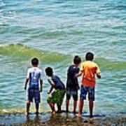 Boys On The Beach Art Print