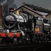 Br Steam Train And Gwr Pannier Tank Art Print