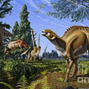 Brachylophosaurus canadensis Art Print