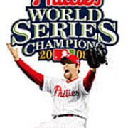 Brad Lidge Ws Champs Logo Art Print