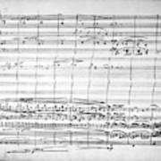Brahms Manuscript, 1880 Art Print