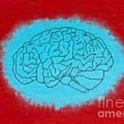 Brain Blue Art Print