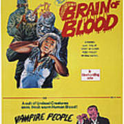 Brain Of Blood With Vampire People, Us Art Print