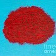 Brain Red Art Print