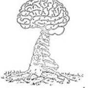 Brain Tree Art Print