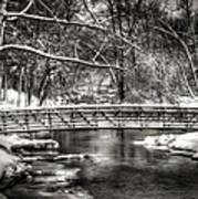 Brainards Bridge After A Snow Storm 3 Art Print