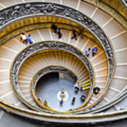 Bramante Spiral Staircase In Vatican City Art Print
