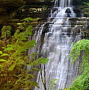 Brandywine Falls Of Cuyahoga Valley National Park Waterfall Water Fall Art Print
