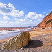 Branscombe Beach - Impressions Art Print