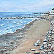 Brant Rock At High Tide Art Print