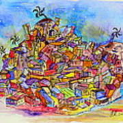 Brasilian Favela Art Print
