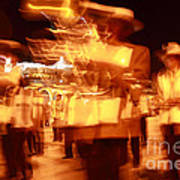 Brass Band At Night Art Print