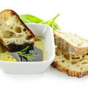 Bread Olive Oil And Vinegar Art Print