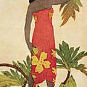 Breadfruit Girl Art Print