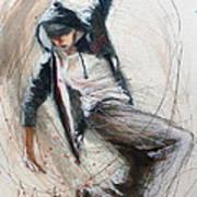 Break Dancer1 Art Print