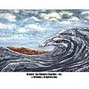 Breaker San Clemente  Art Print
