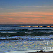 Breakers At Sunset Art Print by Louise Heusinkveld