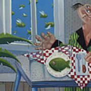 Breakfast In Barbados 1989 Art Print