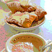 Breakfast Of Champions At Cafe Du Monde Art Print
