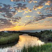 Breaking Dawn Along The Bayou Art Print