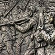 Breaking The Advance.  State Of Delaware Monument Detail-l1 Gettysburg Autumn Mid-day. Art Print