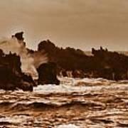Breaking Waves-big Island Hawaii Art Print