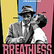Breathless Movie Poster Art Print