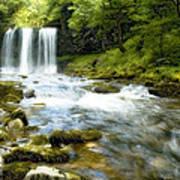 Brecon Waterfall Art Print