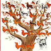 Breeds Tree Art Print