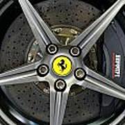 Brembo Carbon Ceramic Brake On A Ferrari F12 Berlinetta Art Print