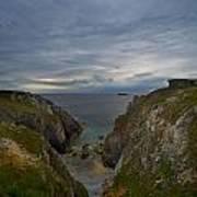 Bretagne Cliffs Art Print
