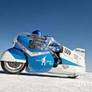 Brett De Stoop On His Suzuki Gt 750 At Speed Art Print