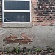 Brick Broken Plaster And Window Art Print