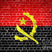 Brick Wall Angola Art Print