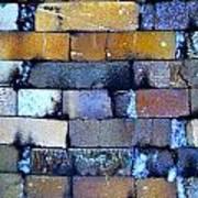 Brick Wall Of A Pottery Kiln Art Print