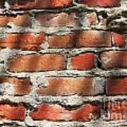 Brick Wall Shadows Art Print
