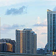 Brickell Key And Miami Skyline Art Print