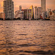 Brickell Sunset Art Print