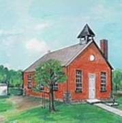 Bricktown School Print by Mary Armstrong