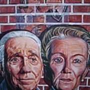 Brickwall Art Print by Linda Vaughon