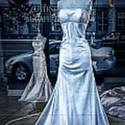 Bridal Dress Window Display In Ottawa Ontario Art Print