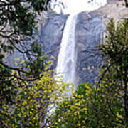 Bridal Veil Falls In Yosemite Valley In Spring- 2013 Art Print