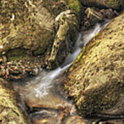 Bridal Veil Stream And Mossy Rocks - Heber Springs Arkansas Art Print